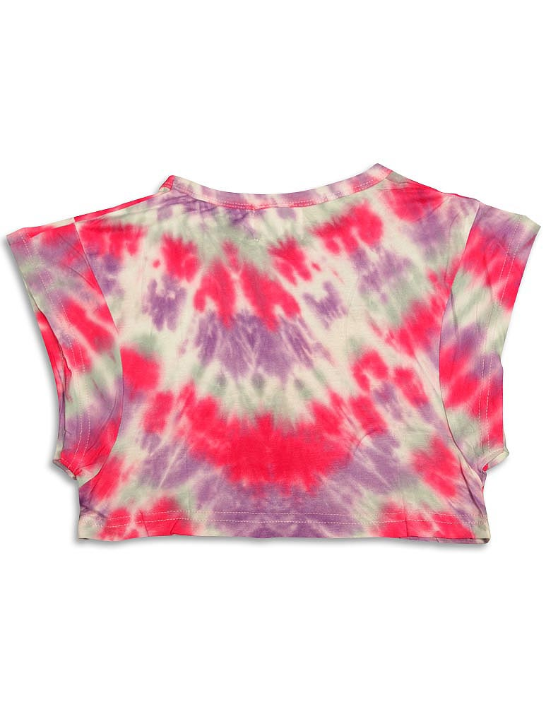 Purple-Orchid-Girls-Short-Sleeve-Cropped-Print-Shirt-Top-Choose-your-style