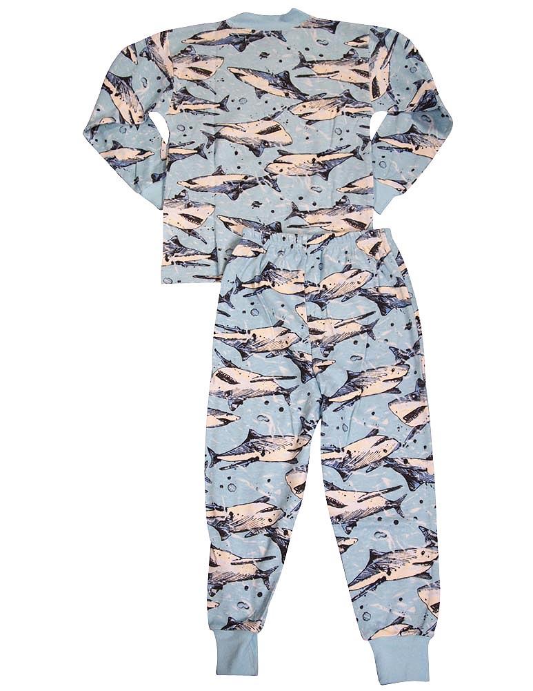 Sara s Prints Boys Girls Unisex Kids Long Sleeve 2 Piece Pajama Set ... 1d0382c01