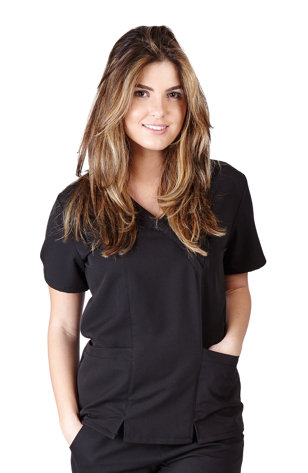 Ultra-Soft-Medical-Nurse-Uniform-Premium-Womens-Junior-Fit-Cross-Over-Scrub-Top