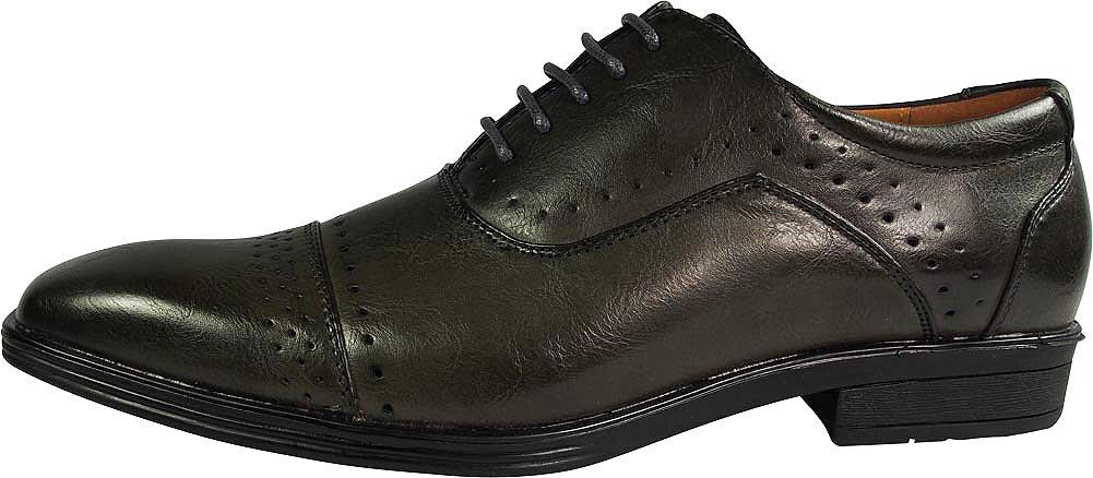 Parrazo Fellini Mens Rana Leather Insole Cap Toe Oxford Lace Up Dress Shoes