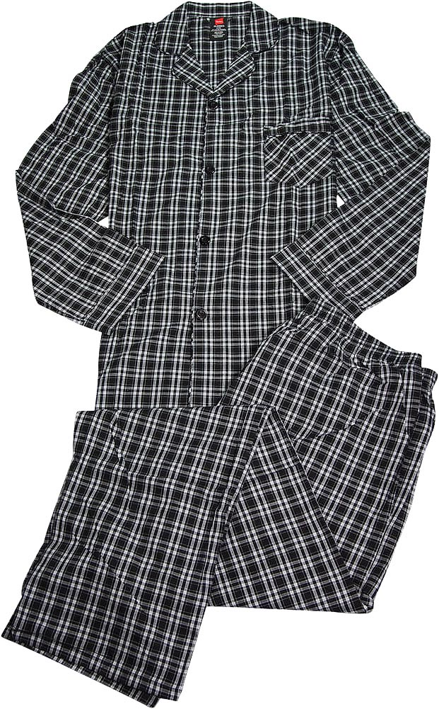Hanes Mens Big and Tall 2 PC Cotton Poly Broadcloth Lounge ...