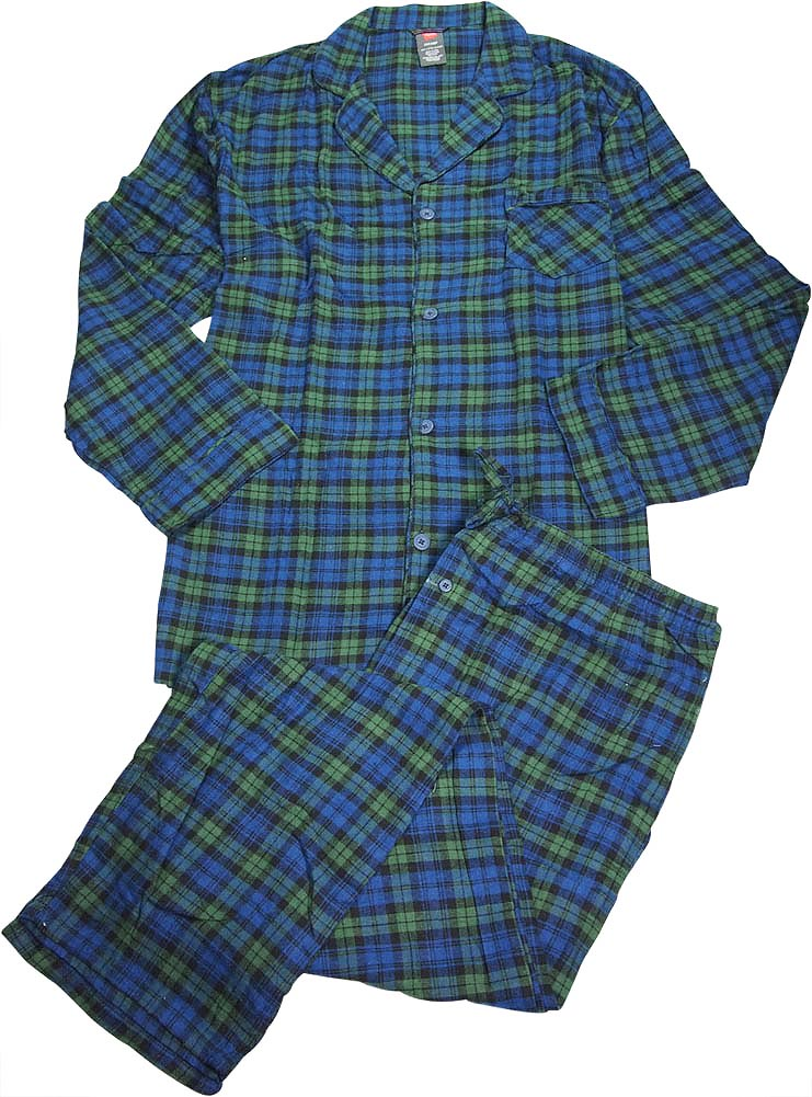 Hanes Mens Big And Tall 2 Piece Cotton Flannel Lounge