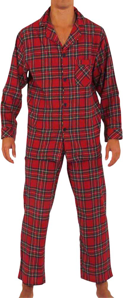 Norty Mens Cotton Yarn Flannel Pajama Lounge Sleep Sets