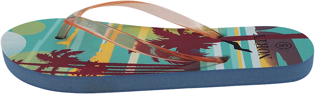 thumbnail 7 - Norty-Women-039-s-Graphic-Print-Flip-Flop-Thong-Sandal-for-Beach-Pool-or-Everyday