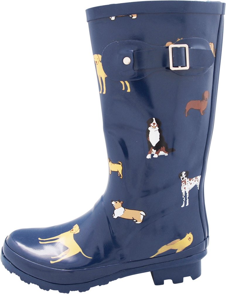 bd6cc7351 Norty Women's Hurricane Wellie - Glossy Matte Waterproof Mid-Calf ...