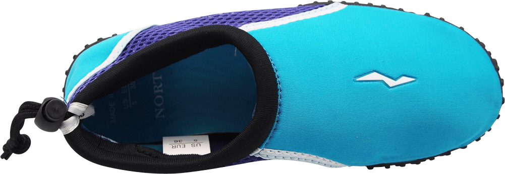 Norty Wave Kids Sizes 11-4 Boys Girls Slip on Aqua Socks Pool Beach Water Shoe